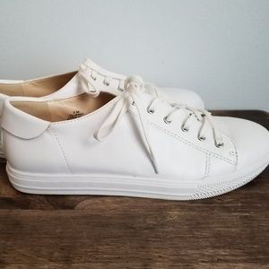 Nine West Palmeroo white leather sneakers